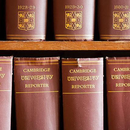 Cambridge_University_Reporter_volumes_at_Madingley_Hall